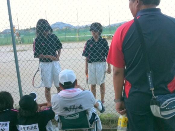 滋賀県中学ソフトテニス新人戦3Bブロック大会2010