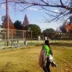 大阪市の旭ソフトテニスクラブへ。