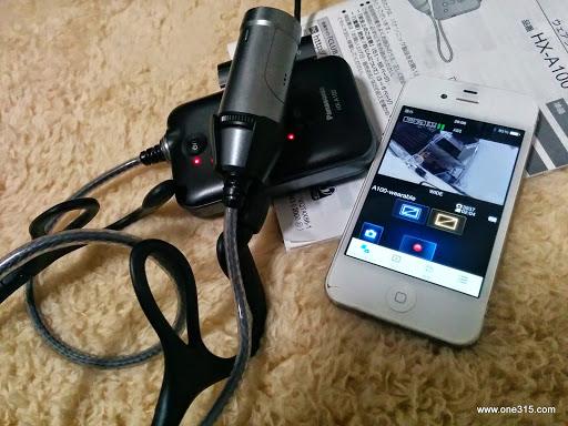 ソフトテニス目線カメラ パナソニックウェラブルカメラHX-A100 ウェアラブル