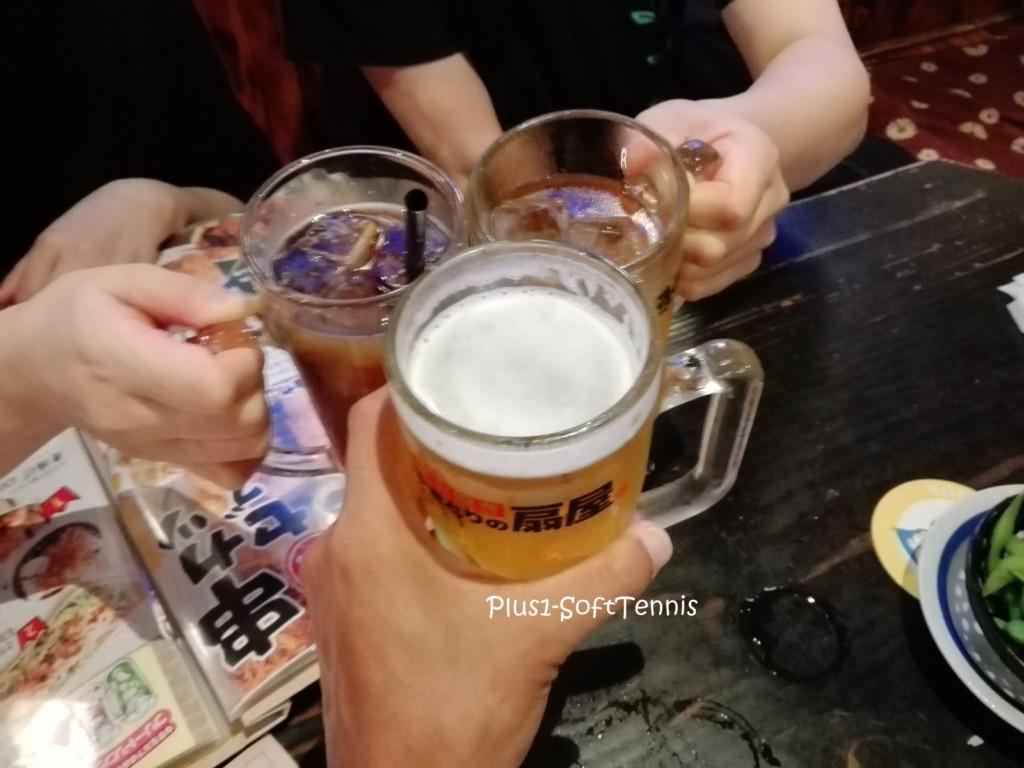 扇屋八日市店 焼き鳥 ビール