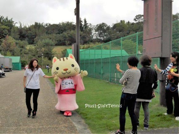 プラスワン ソフトテニス プチ大会 シングルス 滋賀県蒲生郡ドラゴンハット こにゃん 湖南市 ゆるキャラ