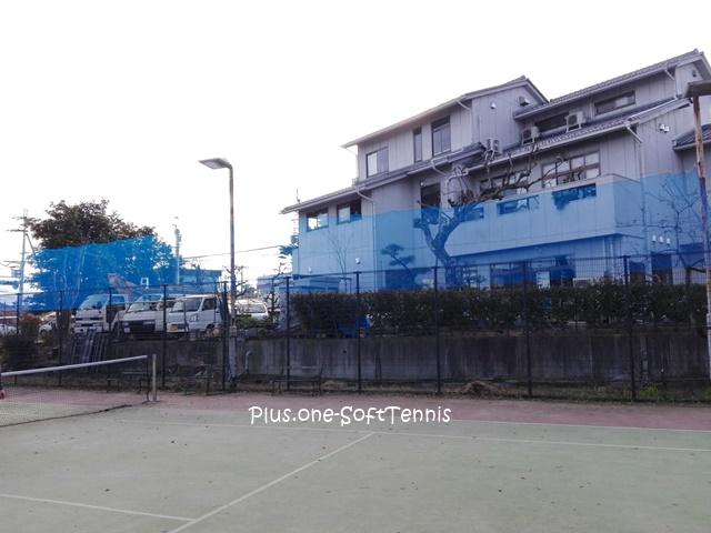 プラスワン・ソフトテニス 防球ネットを設置しました。 2016/12/24(土)