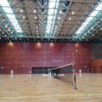 滋賀県近江八幡市ミックス大会2017、が中止になりコート解放。