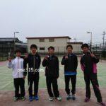 山口県からソフトテニスしに来てくれました。2017/03/18(土)