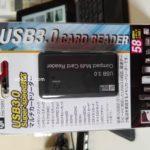 USB3.0カードリーダー(オ-ム電機PC-SCRW301-K)を買いました。