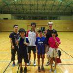2017/08/14(月)夜間 スポンジボールテニス@滋賀県近江八幡市