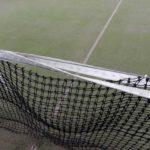 テニスコート整備 2017/10/07 ネットの補修