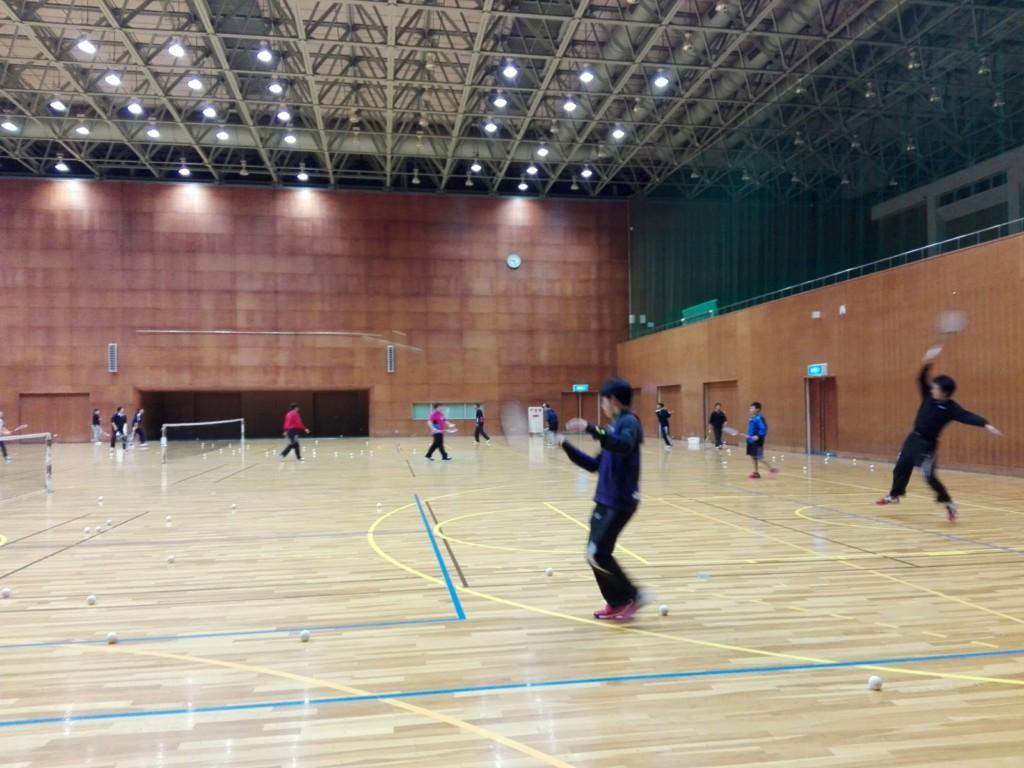 2017/12/19(火) ソフトテニス練習会@滋賀県近江八幡市