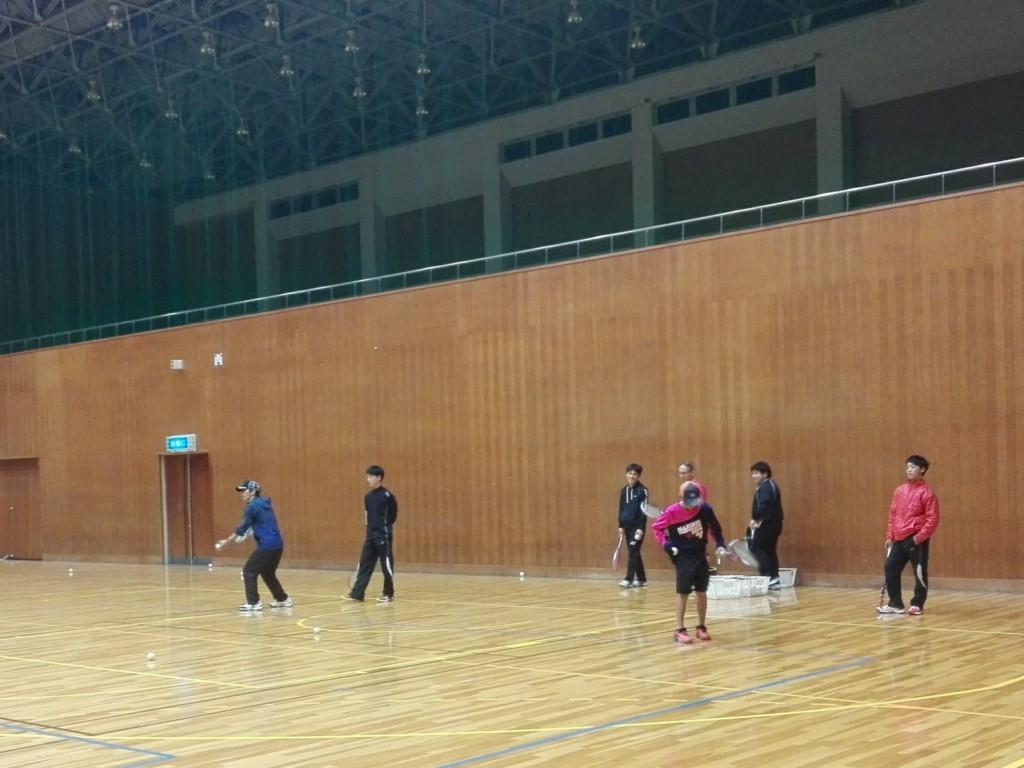 2018/01/15(月) ソフトテニス練習会@滋賀県近江八幡市