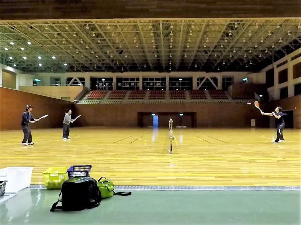 2018/02/24(土)夜間 ソフトテニス練習会・初心者~