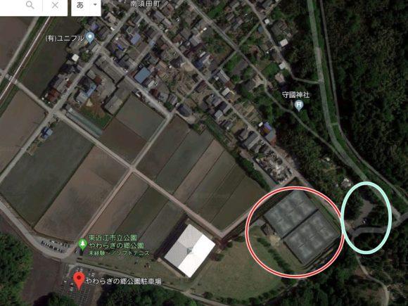 滋賀県東近江市やわらぎの郷公園テニスコート