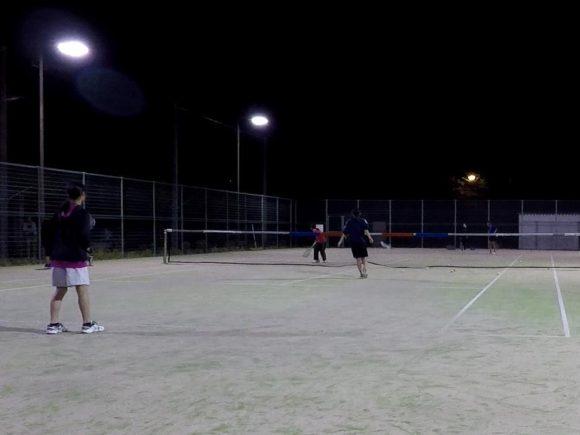 2018/05/12(土)夜間 プラスワン・ソフトテニス練習会/初心者~