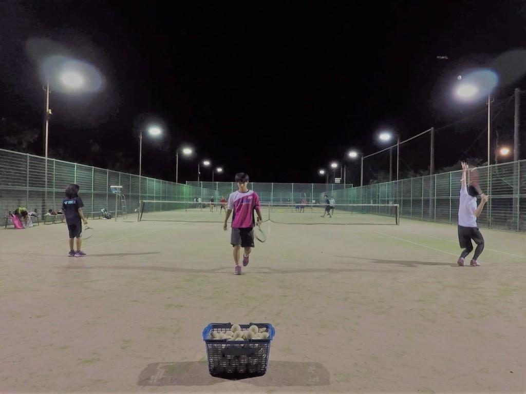 20180818(土)夜間 初心者練習会 プラスワン・ソフトテニス
