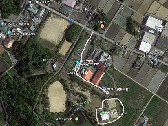 東近江市ひばり公園テニスコート