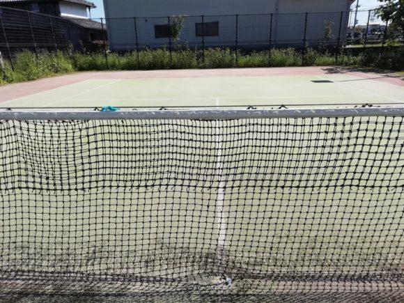 2018/09/28(金) テニスコート整備 防球ネット回収