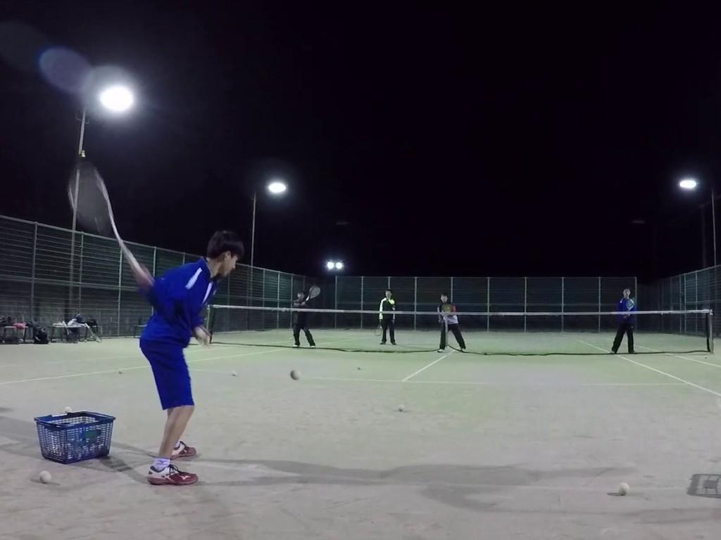 2018/12/19(水)夕方 ソフトテニス練習会 プラスワン 滋賀県 東近江市