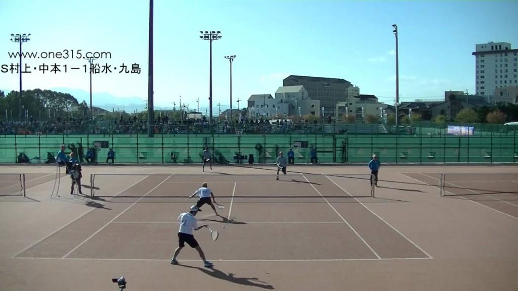 ソフトテニス 全日本選手権2015 男子 準々決勝 村上・中本ー船水(雄)・九島