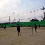 守山中学校男子ソフトテニス部に伺って来ました。