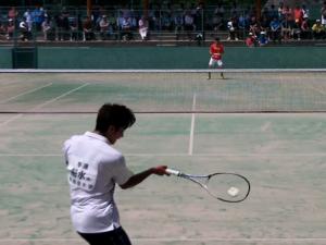 [すごプレ]ソフトテニス 全日本シングルス2016 男子 準決勝 船水(颯)(早稲田大学)ー長江(NTT西日本)
