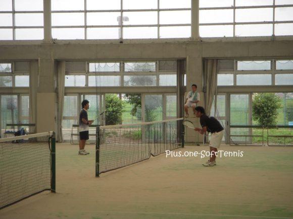 ソフトテニス交流戦「LOOP、八幡工業OB」