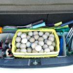 車のトランクをソフトテニス仕様にしました。