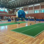 2017/09/10(日)滋賀県近江八幡市スポーツ・健康フェスティバル。バウンドテニスのお手伝い。