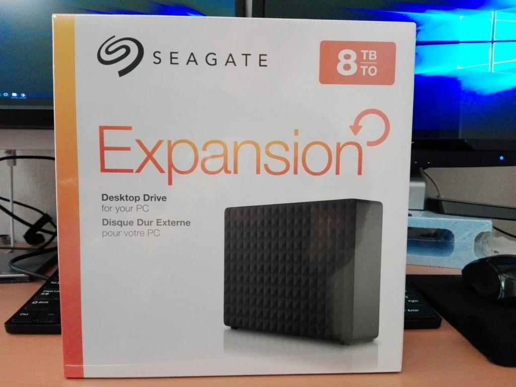 2018/04/20 外付けハードディスク8TB Seagate STEB8000100
