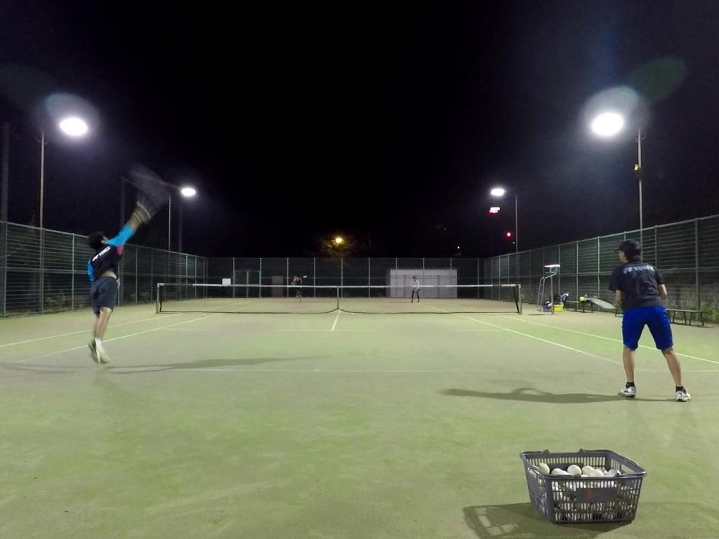 2018/06/23(土)夜間 初心者からの練習会 プラスワン・ソフトテニス