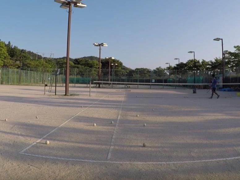 2018/08/04(土)夕方 出張個別練習会@滋賀県近江八幡市 プラスワン・ソフトテニス