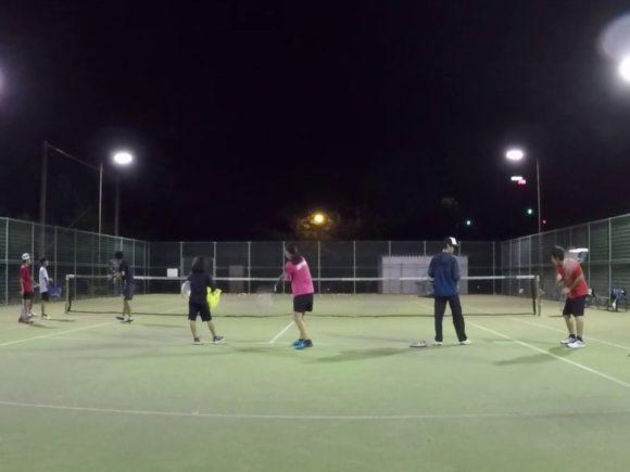 2018/10/06(土)夜間 初級者練習会 プラスワン・ソフトテニス